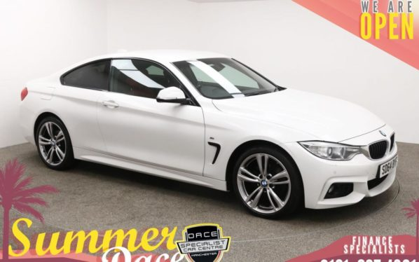 Used 2014 WHITE BMW 4 SERIES Coupe 2.0 420D XDRIVE M SPORT 2d AUTO 181 BHP (reg. 2014-09-25) for sale in Manchester