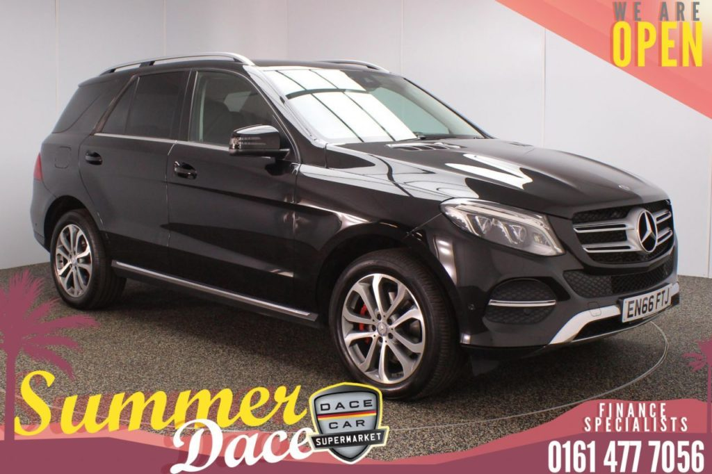Used 2016 BLACK MERCEDES-BENZ GLE-CLASS SUV 2.1 GLE 250 D 4MATIC SPORT 5DR AUTO 201 BHP (reg. 2016-12-16) for sale in Stockport