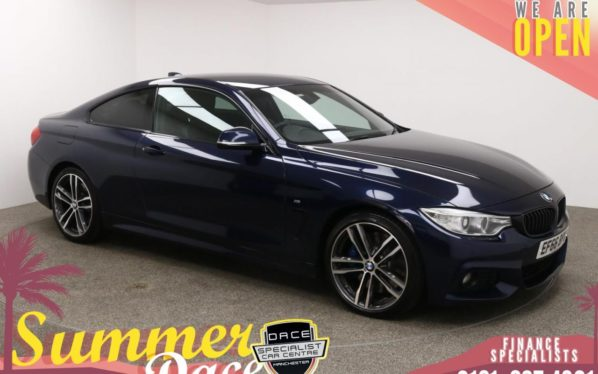 Used 2016 BLUE BMW 4 SERIES Coupe 3.0 430D M SPORT 2d AUTO 255 BHP (reg. 2016-12-03) for sale in Manchester