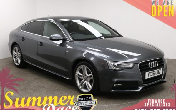 Used 2016 GREY AUDI A5 Hatchback 2.0 TDI S LINE 5d AUTO 187 BHP (reg. 2016-03-30) for sale in Manchester