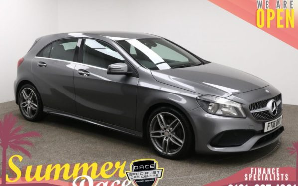 Used 2016 GREY MERCEDES-BENZ A-CLASS Hatchback 1.5 A 180 D AMG LINE 5d 107 BHP (reg. 2016-07-22) for sale in Manchester