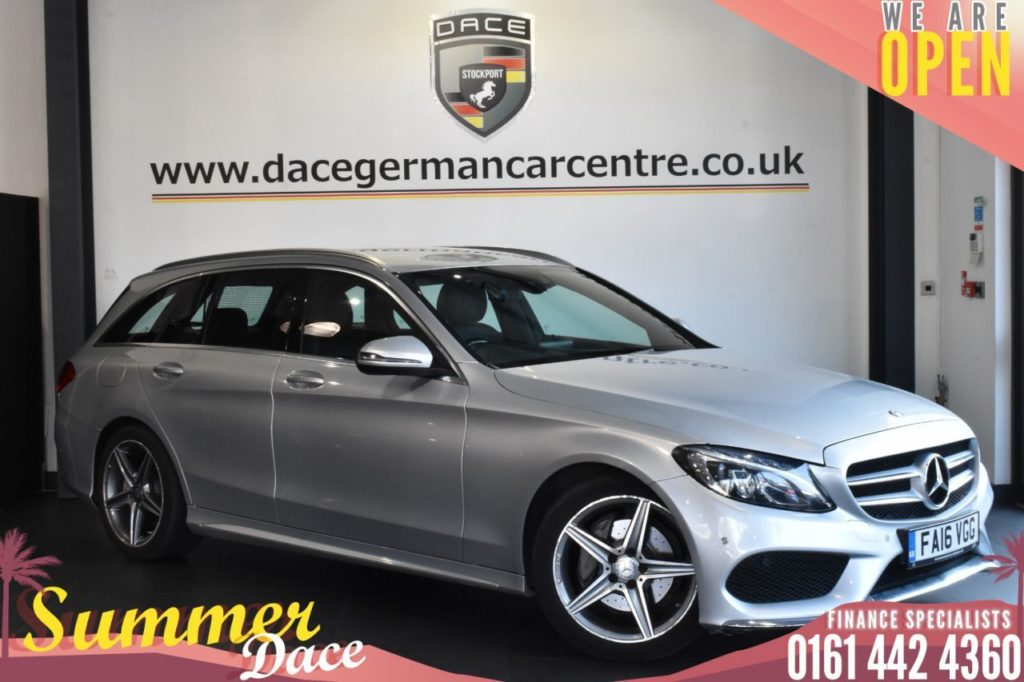 Used 2016 SILVER MERCEDES-BENZ C-CLASS Estate 2.1 C220 D AMG LINE 5DR AUTO 170 BHP (reg. 2016-07-14) for sale in Bolton