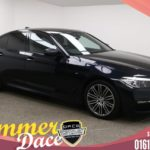 Used 2017 BLACK BMW 5 SERIES Saloon 2.0 520D XDRIVE M SPORT 4d AUTO 188 BHP (reg. 2017-03-14) for sale in Manchester