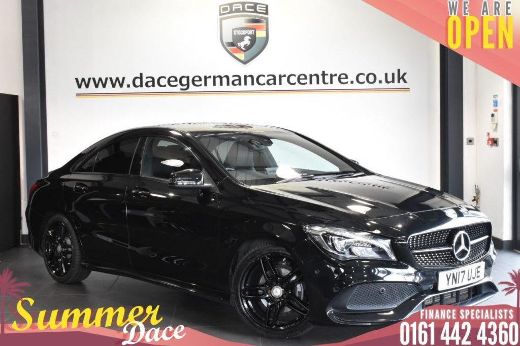 Used 2017 BLACK MERCEDES-BENZ CLA Coupe 2.1 CLA 200 D AMG LINE 4DR 134 BHP (reg. 2017-03-14) for sale in Bolton