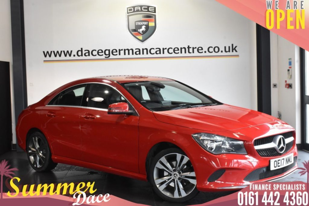 Used 2017 RED MERCEDES-BENZ CLA Coupe 2.1 CLA 200 D SPORT 4DR 134 BHP (reg. 2017-07-27) for sale in Bolton