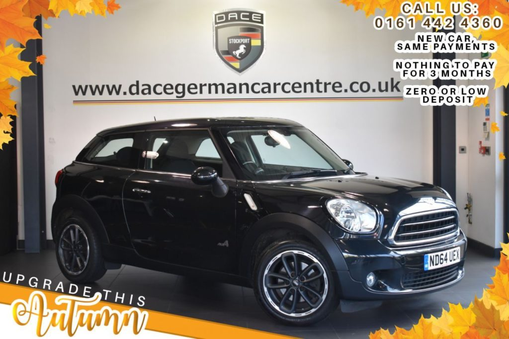 Used 2014 BLACK MINI PACEMAN Coupe 1.6 COOPER ALL4 3DR 121 BHP (reg. 2014-12-15) for sale in Bolton