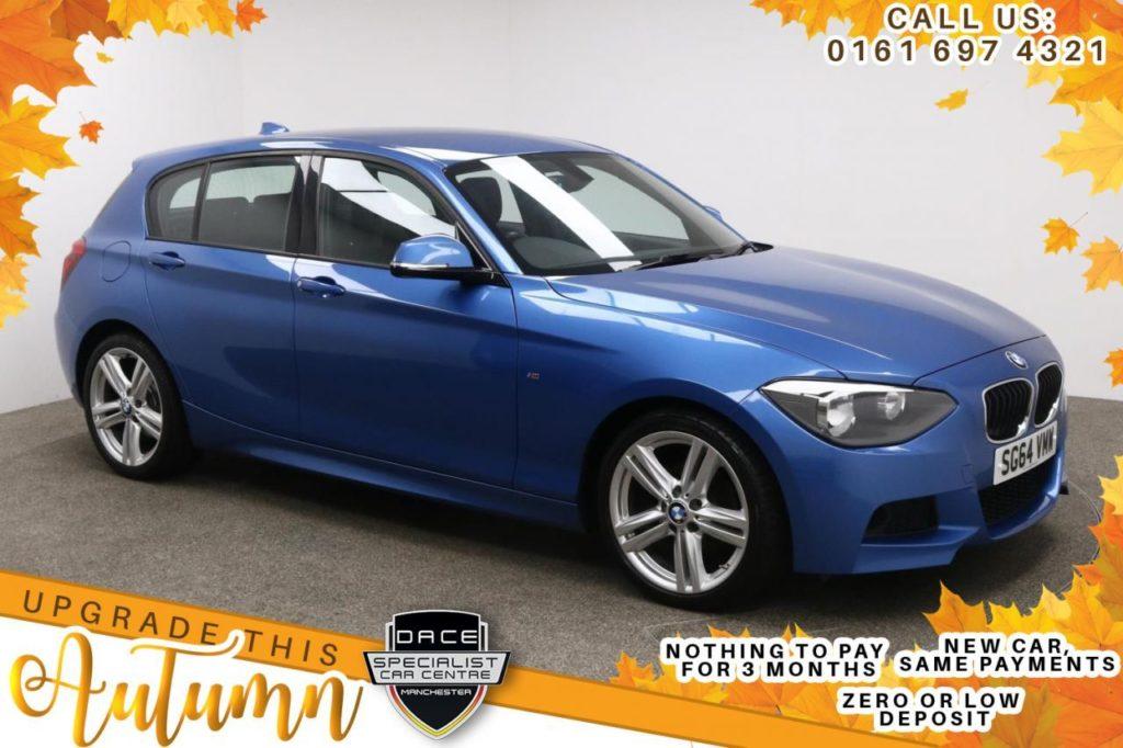 Used 2014 BLUE BMW 1 SERIES Hatchback 1.6 116I M SPORT 5d 135 BHP (reg. 2014-09-16) for sale in Manchester