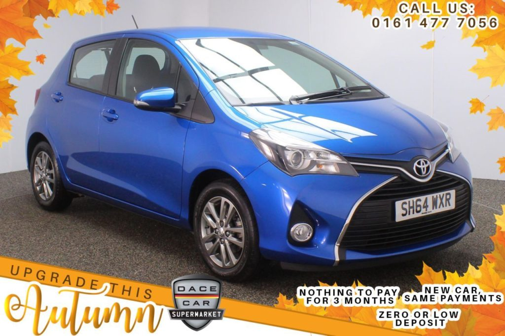 Used 2014 BLUE TOYOTA YARIS Hatchback 1.3 VVT-I ICON M-DRIVE S 5d AUTO 99 BHP (reg. 2014-10-31) for sale in Stockport