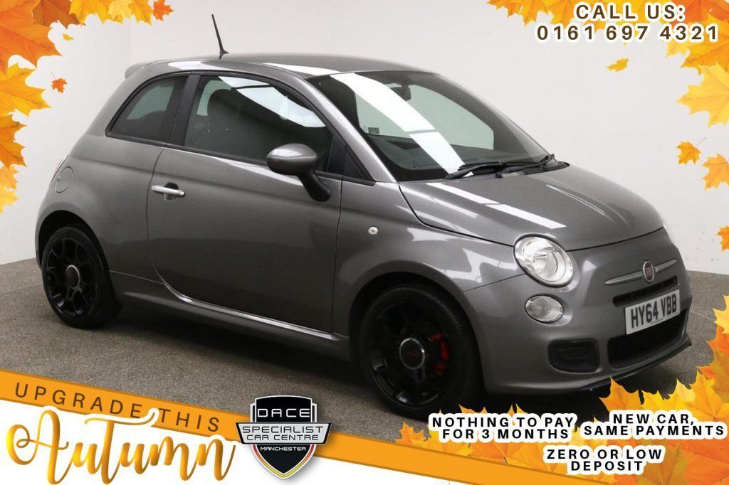 Used 2014 GREY FIAT 500 Hatchback 0.9 TWINAIR S 3d 105 BHP (reg. 2014-09-30) for sale in Manchester