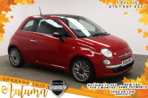 Used 2014 RED FIAT 500 Hatchback 1.2 CULT 3d 69 BHP (reg. 2014-12-22) for sale in Manchester