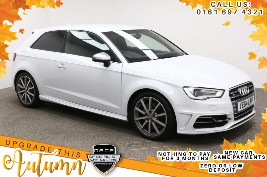 Used 2014 WHITE AUDI S3 Hatchback 2.0 S3 QUATTRO 3d AUTO 296 BHP (reg. 2014-10-31) for sale in Manchester