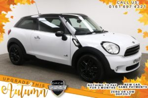 Used 2014 WHITE MINI PACEMAN Coupe 2.0 COOPER D ALL4 3d AUTO 111 BHP (reg. 2014-09-30) for sale in Manchester