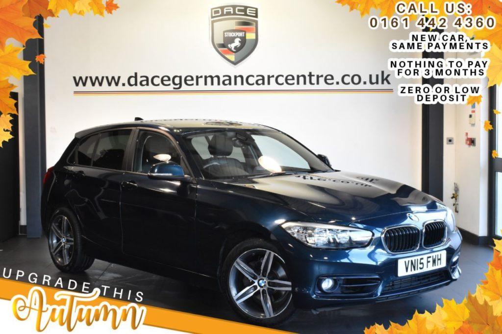 Used 2015 BLUE BMW 1 SERIES Hatchback 1.6 120I SPORT 5DR 177 BHP (reg. 2015-05-16) for sale in Bolton