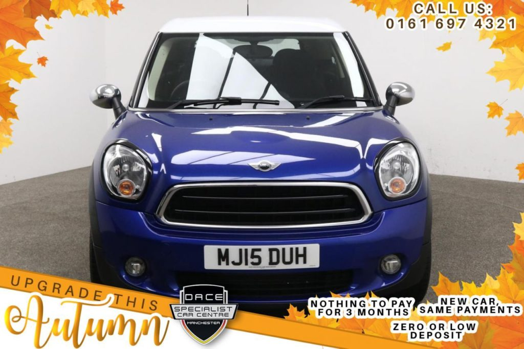 Used 2015 BLUE MINI PACEMAN Coupe 2.0 COOPER D 3d AUTO 112 BHP (reg. 2015-04-24) for sale in Manchester