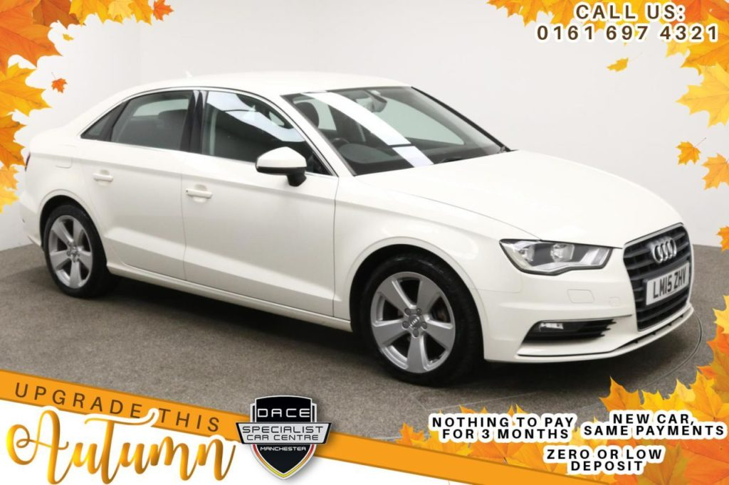 Used 2015 WHITE AUDI A3 Saloon 1.6 TDI SPORT 4d AUTO 109 BHP (reg. 2015-05-13) for sale in Manchester
