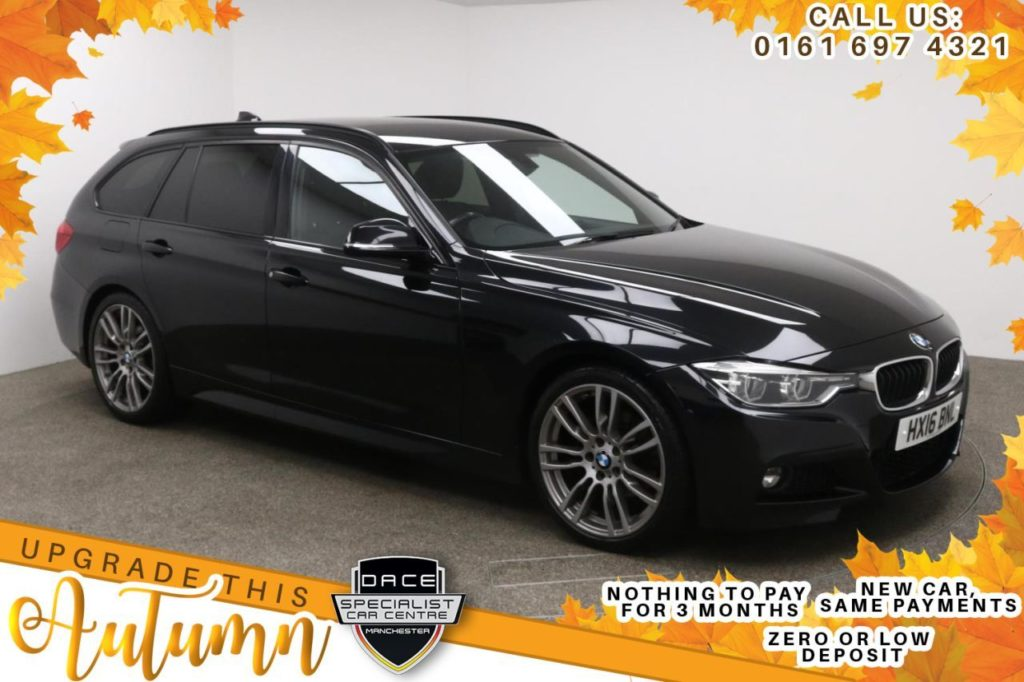 Used 2016 BLACK BMW 3 SERIES Estate 2.0 320D M SPORT TOURING 5d 188 BHP (reg. 2016-03-02) for sale in Manchester