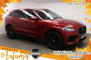 Used 2016 RED JAGUAR F-PACE Estate 3.0 V6 S AWD 5d AUTO 296 BHP (reg. 2016-12-16) for sale in Manchester