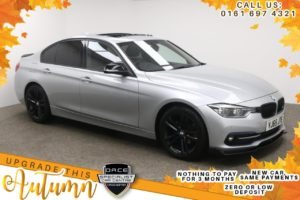Used 2016 SILVER BMW 3 SERIES Saloon 2.0 320D ED SPORT 4d AUTO 161 BHP (reg. 2016-02-25) for sale in Manchester