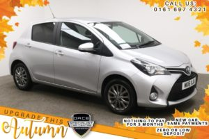 Used 2016 SILVER TOYOTA YARIS Hatchback 1.3 VVT-I ICON 5d 99 BHP (reg. 2016-03-18) for sale in Manchester