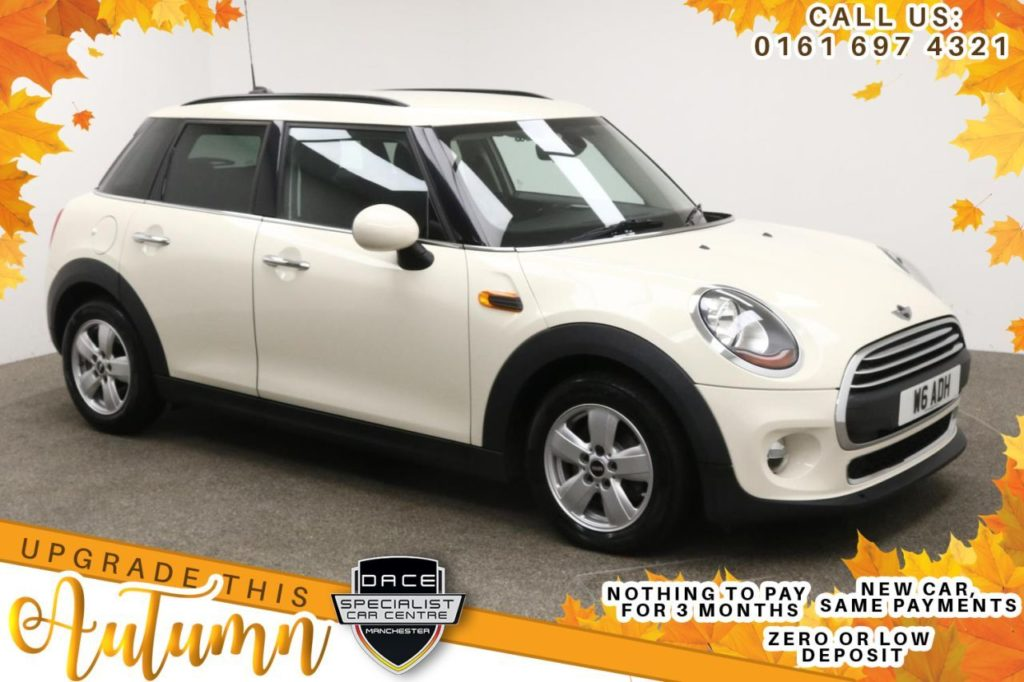 Used 2016 WHITE MINI HATCH ONE Hatchback 1.5 ONE D 5d 94 BHP (reg. 2016-01-21) for sale in Manchester