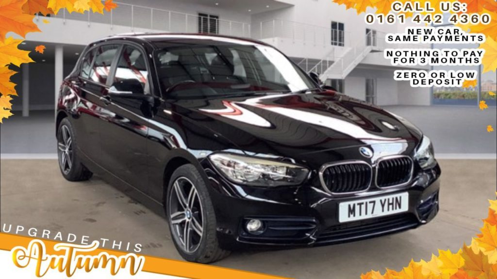 Used 2017 BLACK BMW 1 SERIES Hatchback 1.5 116D SPORT 5DR 114 BHP (reg. 2017-05-24) for sale in Bolton