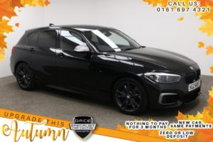 Used 2017 BLACK BMW 1 SERIES Hatchback 3.0 M140I SHADOW EDITION 5d AUTO 335 BHP (reg. 2017-09-29) for sale in Manchester