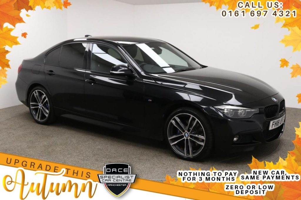 Used 2018 BLACK BMW 3 SERIES Saloon 2.0 320D XDRIVE M SPORT SHADOW EDITION 4DR AUTO 188 BHP (reg. 2018-06-26) for sale in Manchester