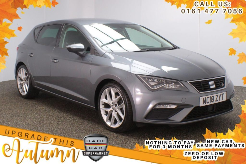 Used 2018 GREY SEAT LEON Hatchback 1.4 TSI FR TECHNOLOGY 5d 124 BHP (reg. 2018-07-31) for sale in Stockport