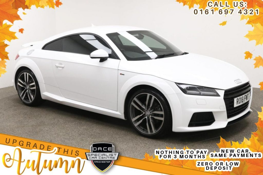 Used 2018 WHITE AUDI TT Coupe 1.8 TFSI S LINE 2d 178 BHP (reg. 2018-03-31) for sale in Manchester