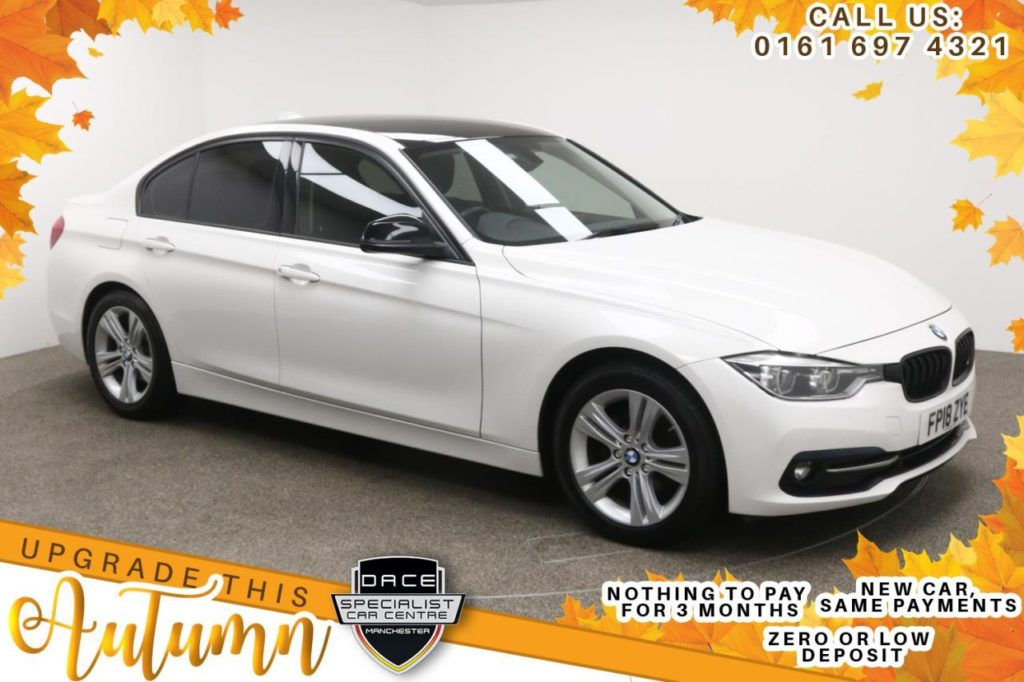 Used 2018 WHITE BMW 3 SERIES Saloon 2.0 320D ED SPORT 4d AUTO 161 BHP (reg. 2018-05-11) for sale in Manchester